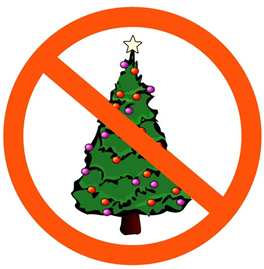 School bans Christmas trees, the colors red & green