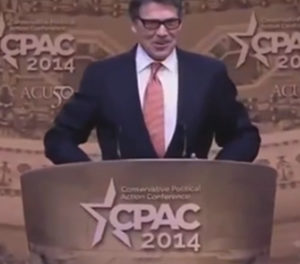 Perry's fiery speech ignites crowd