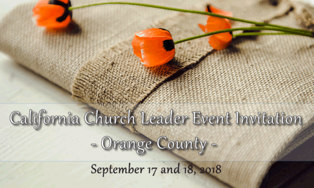 California Leaders and Spouses, Orange County Event Invitation, September 17-18, 2018