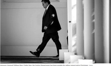 Attorney General Bill Barr's Christian Witness