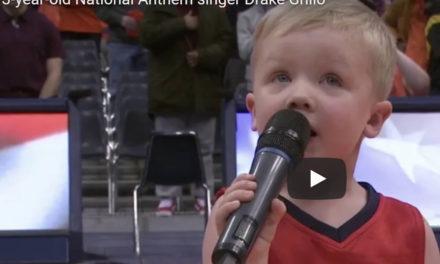 3-year-old Drake Grillo: National Anthem